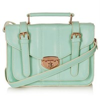 Topshop Turnlock Faux Leather Satchel