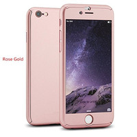 iPhone 6 Plus/6S Plus Full Body Hard Case--Inspirationc® 360 All Round Protective Case for iPhone 6 Plus/6S Plus 5.5 Inch--Rose Gold