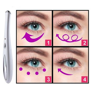 Sonic Eye Massager Wand Anti-ageing Wrinkle Device High-frequency Vibrating Massager