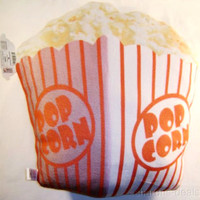Theater Popcorn Bucket Plush Food Pillow Realistic Looking Sweet Dreams Soft