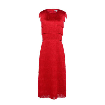 Emma Red Fringe Dress - Stella Mccartney