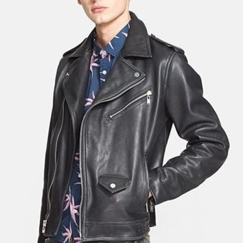 Men's MARC BY MARC JACOBS 'Martin' Leather Moto Jacket