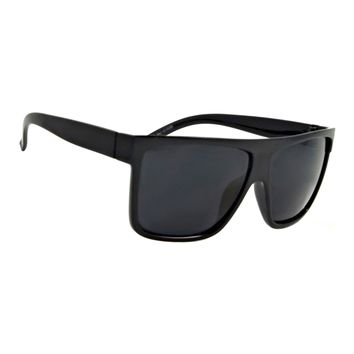 NWT Retro Flat Top Sunglasses Addison Classic Men Women Square Black Frame
