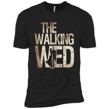 Walking Wed Shirt Zombie Wedding Couple Husband Wife Tee cool shirt