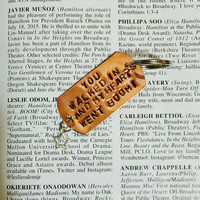 Hamilton Broadway Helpless Lyrics Charm Keychain