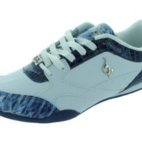 baby phat Women's BABY PHAT ALEXA FASHION SHOES 7.5 Women US (WHITE/NAVY)