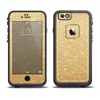 The Gold Glitter Ultra Metallic Apple iPhone 6 LifeProof Fre Case Skin Set