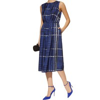 Oscar de la Renta Printed Silk Twill Dress | Harrods.com