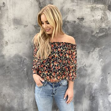 Spring Fling Off Shoulder Floral Top