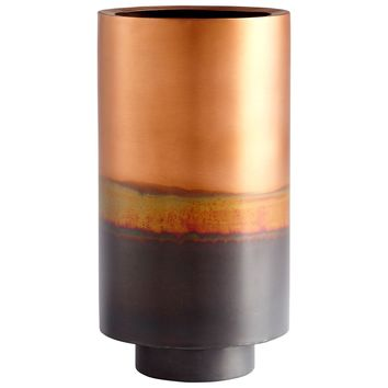 Ombre Copper Two Tone Vase - Large by Cyan Design
