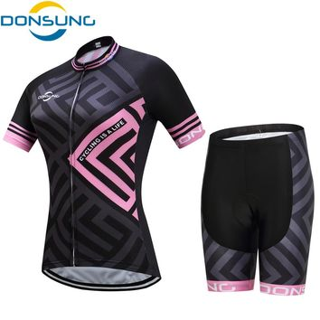 DONSUNG Cycling Sets Women Bike Cycling Clothing Women Pro Team Bicycle Clothes Mtb jersey Cycling Jerseys 2017 Ciclismo Ropa