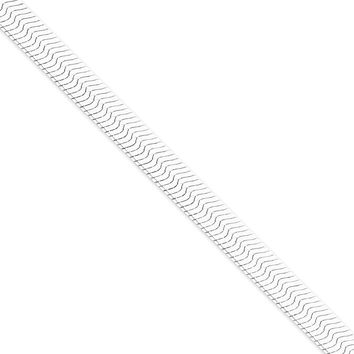 Sterling Silver 8.75mm Magic Herringbone Chain Bracelet