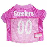 Pittsburgh Steelers Dog Jersey - Pink