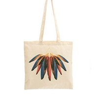 Borders & Frontiers Dawn Feather Print Shopper