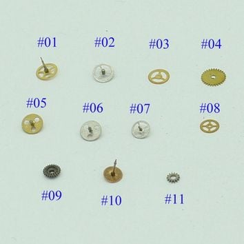 100pcs/lot Nail Art Micro Gears Watch Parts Manicure Design Resin Steampunk Pieces Jewels