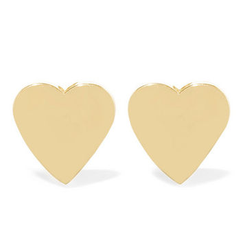 Jennifer Meyer - Heart 18-karat gold earrings