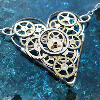 Clockwork Heart Necklace Cherish by amechanicalmind
