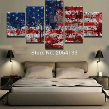 Abstract American Flag Canvas Print
