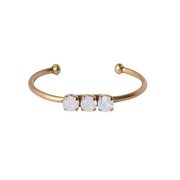 ROSALIE CUFF IN WHITE OPAL
