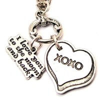"""I Love You to the Moon and Back Xoxo 18"""" Fashion Necklace:Amazon:Jewelry"""