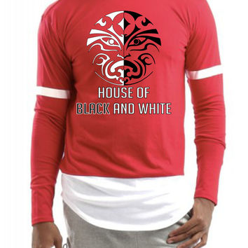 House black and white men Colorblock Longsleeve shirt