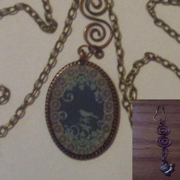 Mother Earth - Copper Pendant Necklace - with Free Charm