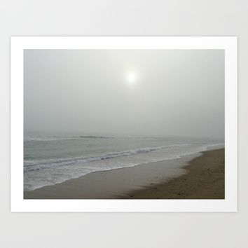 Misquamicut Beach in Winter Art Print by DJ Beaulieu