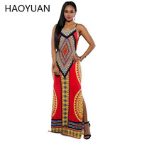 Women Summer Maxi Dress 2016 Bodycon Party Dresses Plus Size Vestidos Sexy Sundress Backless Bandage Dashiki Boho Long Dress