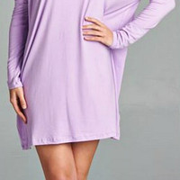 Lovely Low-Key Dress - Lavender