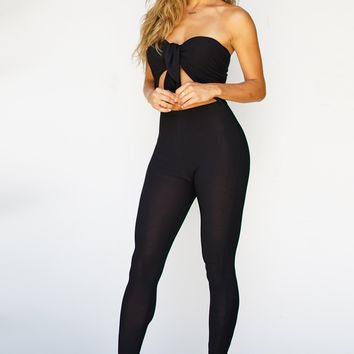 Marilyn Knot Jumpsuit - Black