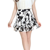 Lixmee foral print summer chiffon cute mini skirt