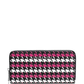 Michael Michael Kors Jet Set Continental Houndstooth Wallet