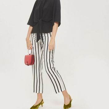 Slouchy Knot Front Blouse - Shirts & Blouses - Clothing