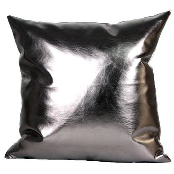 Pu cushions without inner postmodern metallic throw pillows soft PU leather sofa bedding home decor cojines almofadas