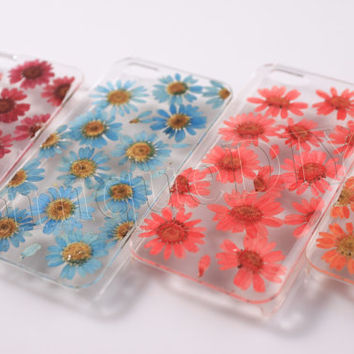 Iphone 5  5s case, iphone 5c case Real Flower Floral Rose Little Daisy Cover, Iphone 4 4s Case Galaxy S4/S3 case Dried Pressed Flower