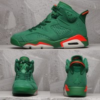Air Jordan 6 Retro Gatorade Like Mike NRG Green Suede AJ6 Sneakers - Best Deal Online