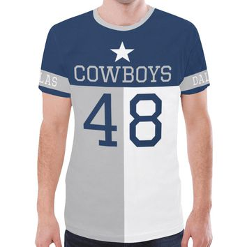 Dallas Football #48 State of Texas Flag Men's Mesh Jersey T-Shirt