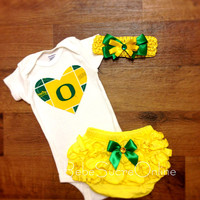 Oregon Ducks Outfit and Headband