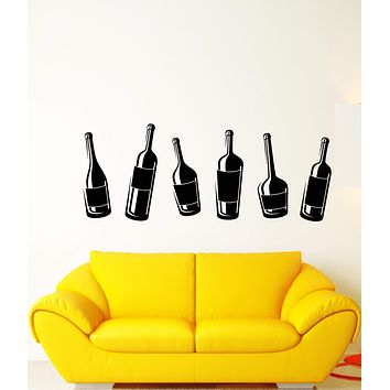 Vinyl Wall Decal Alcohol Bottles Night Party Club Wine Stickers (2474ig)