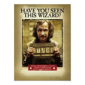 Sirius Black Wanted Poster from Zazzle.com