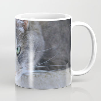 Aqua Eyes Mug by Theresa Campbell D'August Art