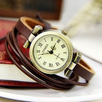 Cool Vintage Rivet Punk Leather Bracelet Bangle Watch Bracelet