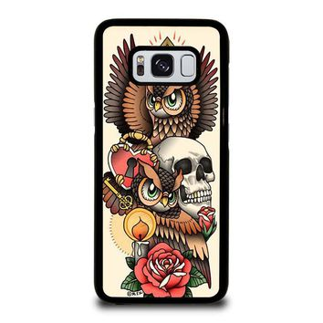 OWL STEAMPUNK ILLUMINATI TATTOO Samsung Galaxy S8 Case Cover