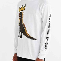 Junk Food X Basquiat Dinosaur Long-Sleeve Tee- White