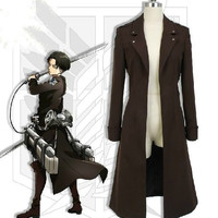 Attack on Titan The Recon Corp Eren Jager Windbreaker wind coat Cosplay Costume