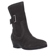 Sporto Northern Wedge Mid Calf Winter Boots, Grey, 7 US