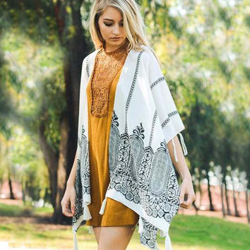 Sweet Autumn Fringe Duster