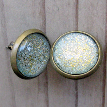 Sparkle Round Post Earrings