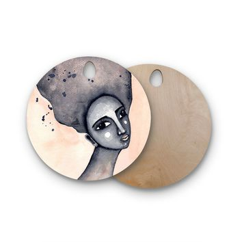 "Stacey-Ann Cole ""Yearning African American Art"" Round Wooden Cutting Board"
