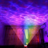 IMAGE® Ocean Wave LED Night Light Music Projector, RGB Aurora Master Lamp, Bedroom Night Light Projector Speaker for Bedroom, Bathroom, Living Room